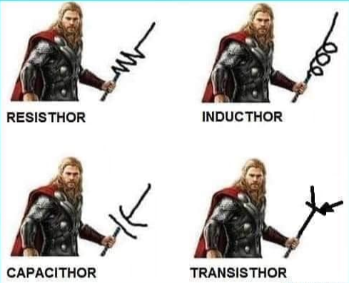 Thor holding electrical components